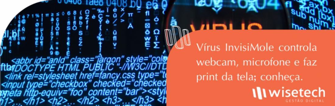 Vírus InvisiMole controla webcam, microfone e faz print da tela; conheça